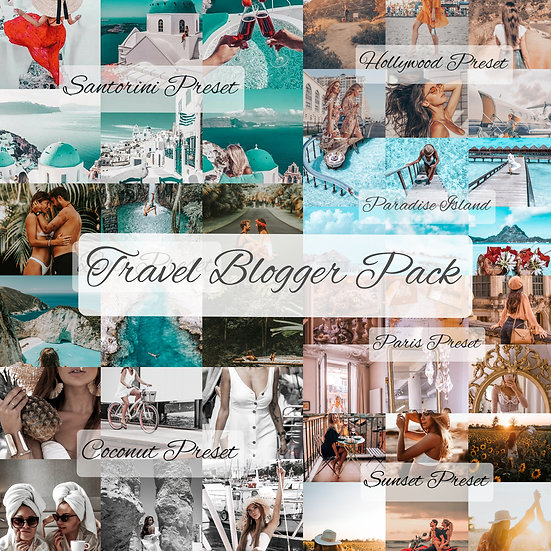 Travel Blogger Preset Pack