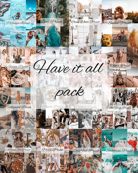 Have It All Preset Pack