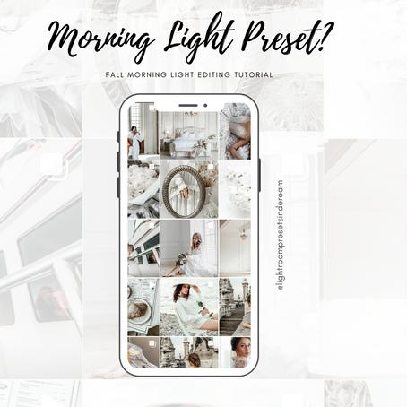 Morning Light editing? Free preset