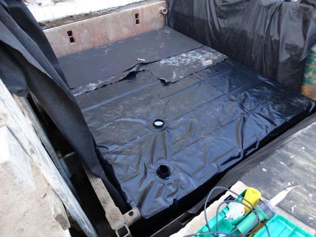 Industrial rain tank install