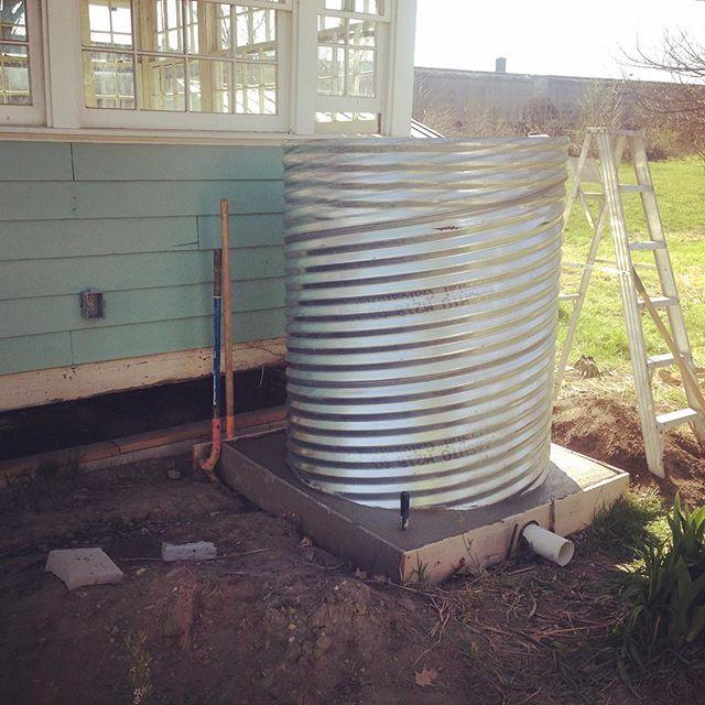 Culvert tank install, Columbus #rainharvesting #cistern #rainharvest