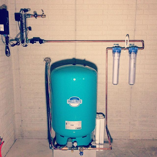 Rainwater filtration system install, Canal Winchester, OH #rainharvest #rainharvesting #cistern