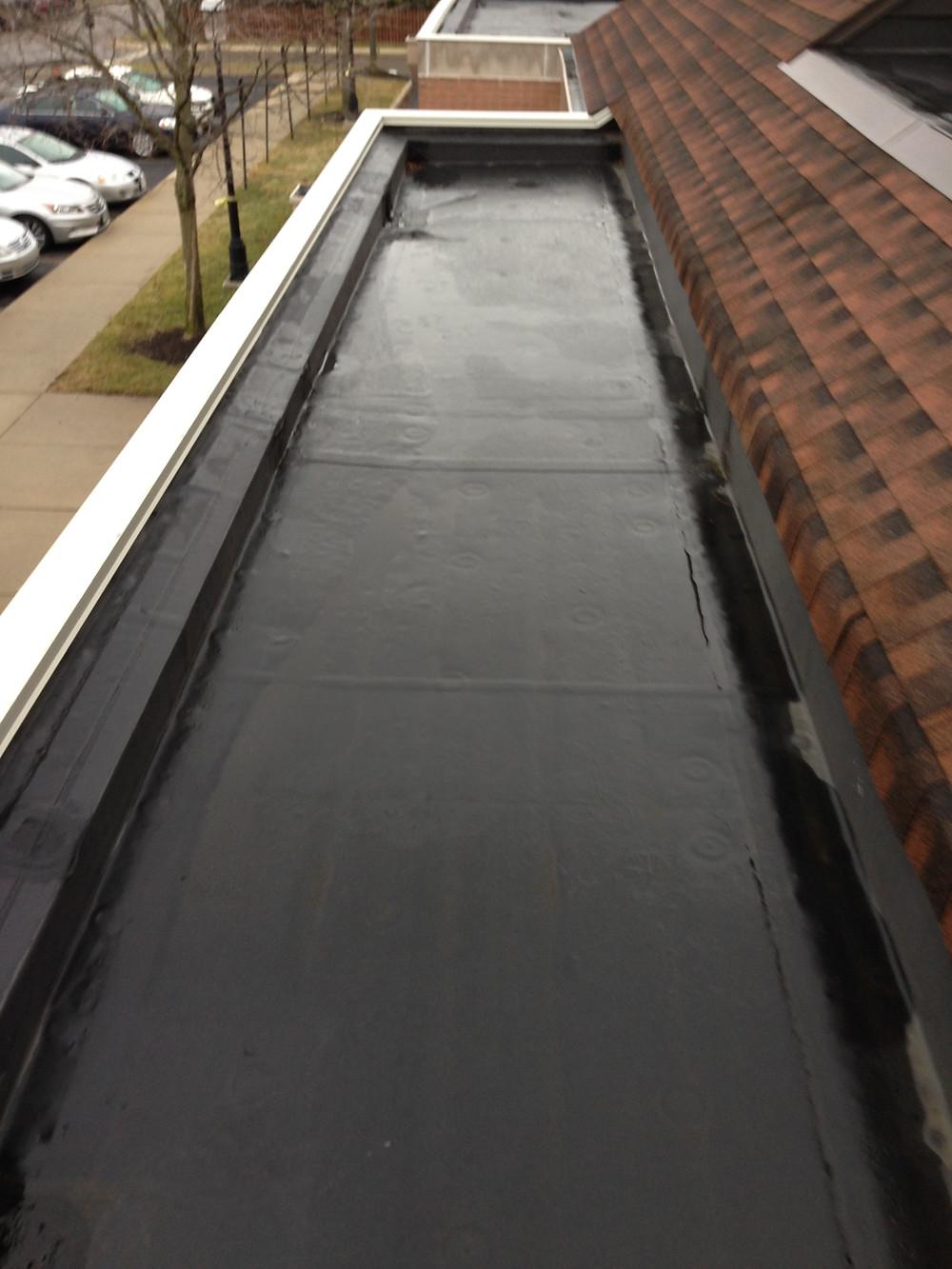 Blue roof preparation