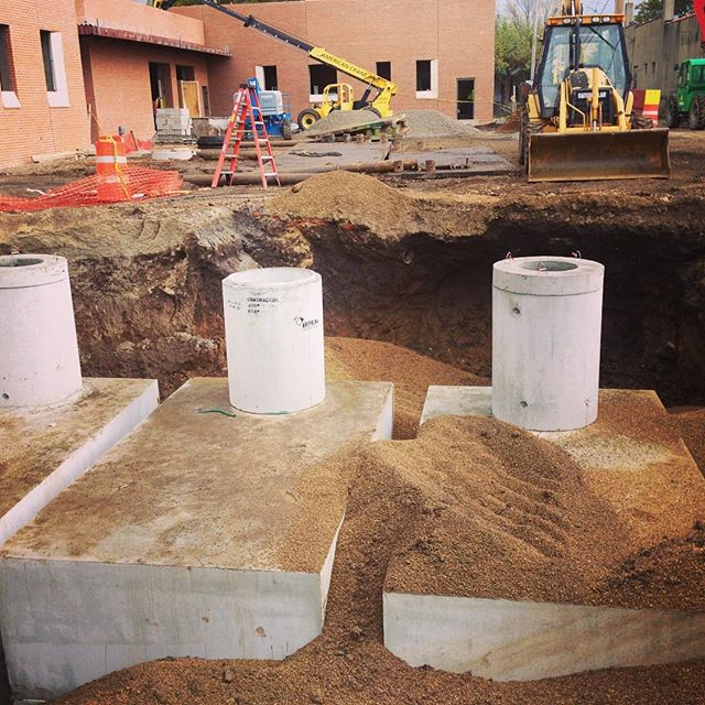 Installation of a 16,500 gallon underground system for Pilot Dogs, Inc in Columbus, Ohio #rainharves