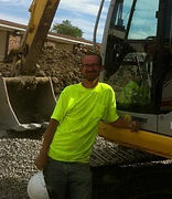 Jonathan Meier digging for commercial cistern