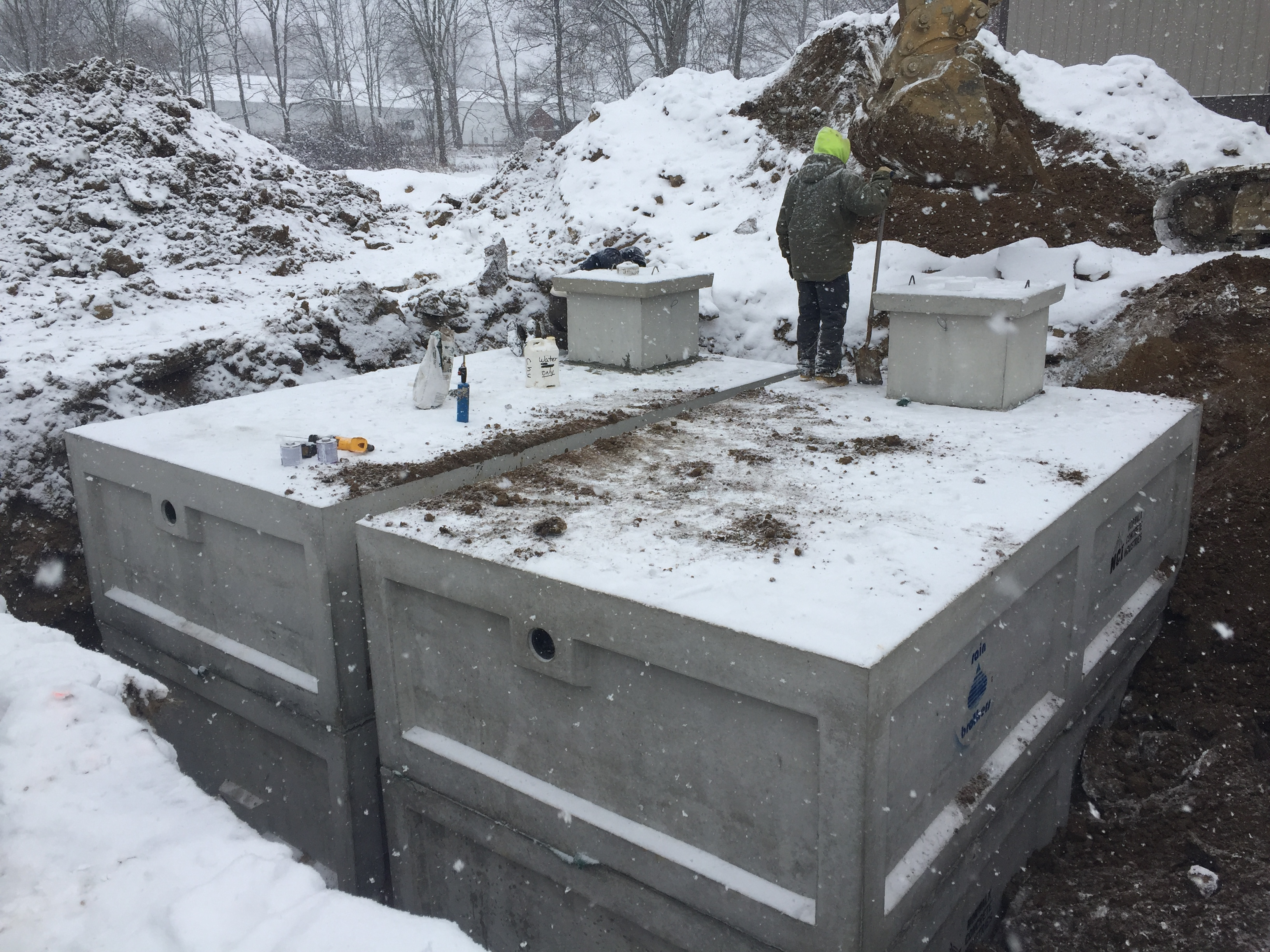 Concrete Cistern Water Tank Install