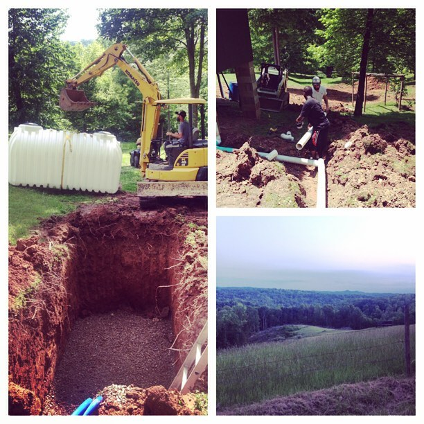 Cistern install in rural West Virginia