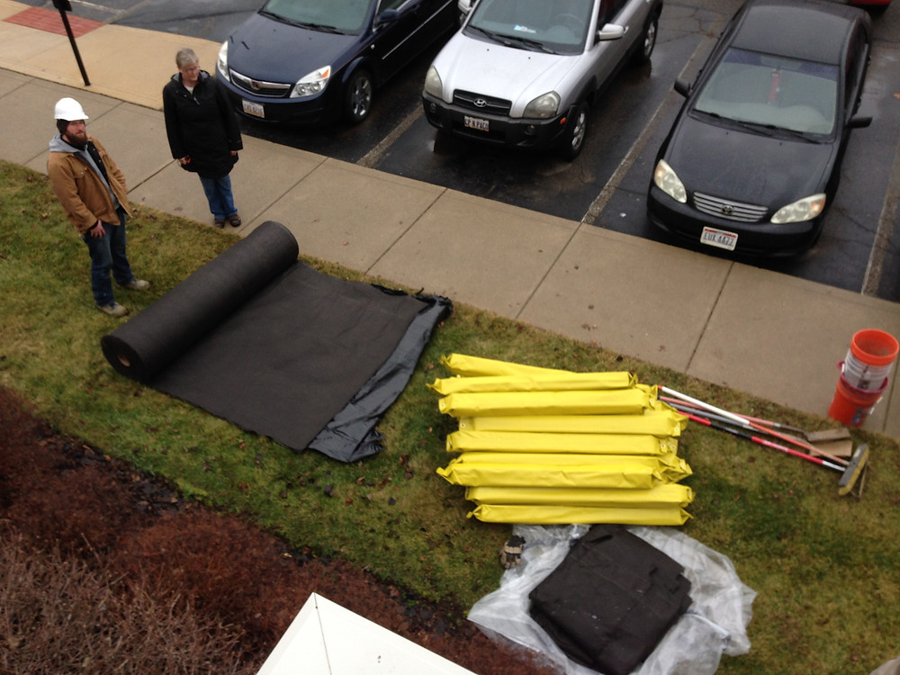 Blue roof stormwater bmp prep