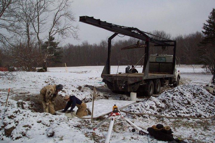 Winter Cistern Install