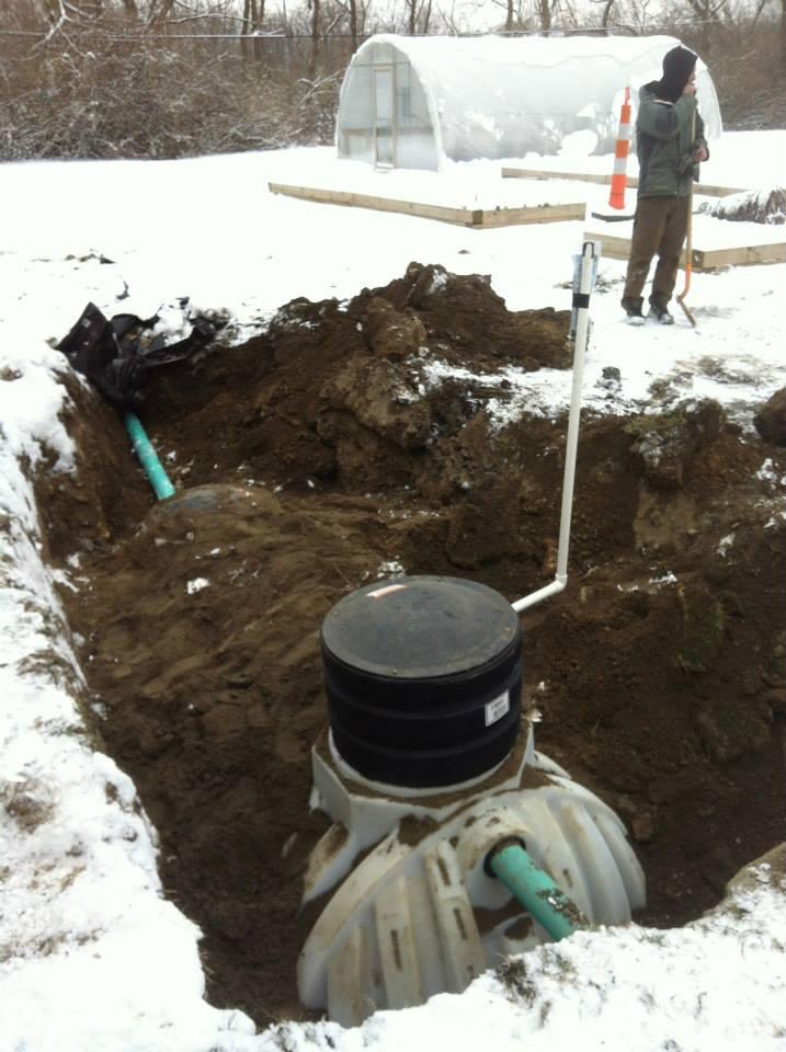 Snowy Cistern Installation