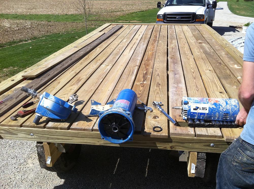 water pump repair cistern well
