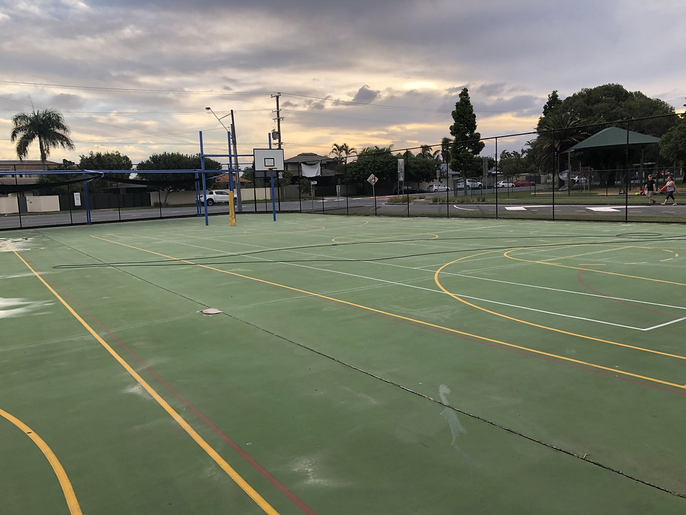 Finished Tennis Court Cleaning