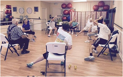 97-year-old Ross stays active through aerobics