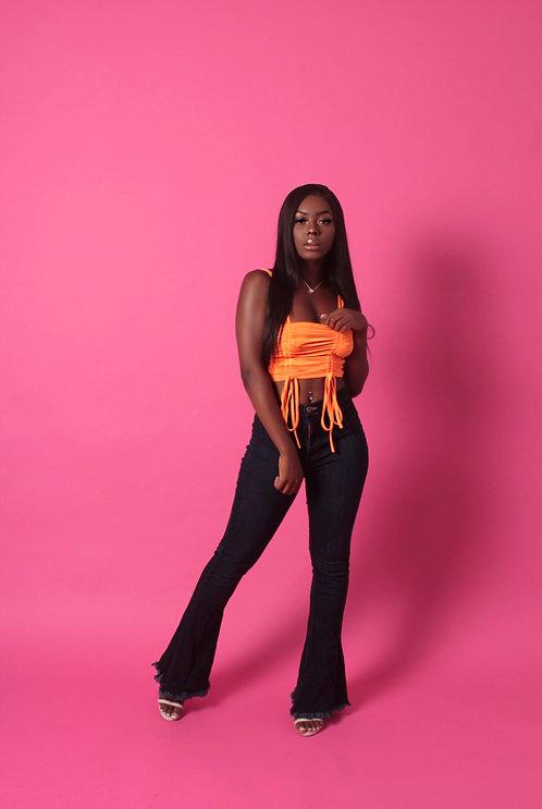 Tangerine Runched top