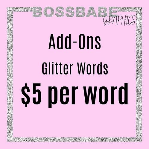 Glitter Words