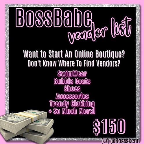 Online Boutique Vendor List