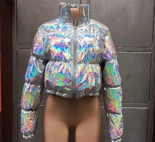 Bo$$y Bubbble Coat - Halographic
