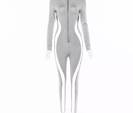 Hot Girl Jumpsuit - Grey