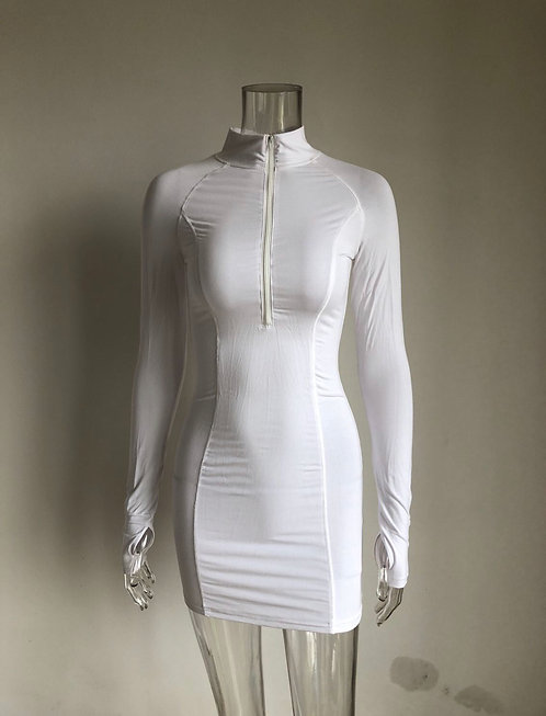 Top Notch Dress- White