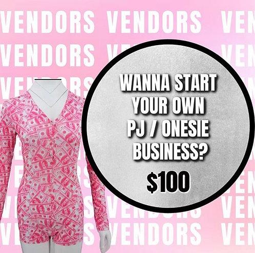 Pajama Onsie Vendor List