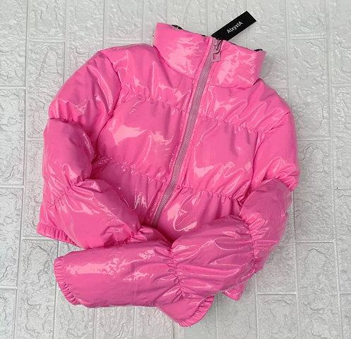 BO$$Y Bubble Coat - Pink