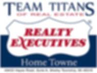 Team Titans Realty Executives Logo on wh