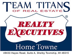Team Titans Realty Executives Logo on wh