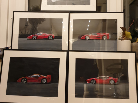 Finished the last five Ferrari celebration cars, the special car they make every 10 years or so....