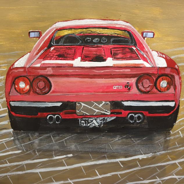 Ferrari 288 GTO tail pipes, A3 size, original £SOLD, print £75