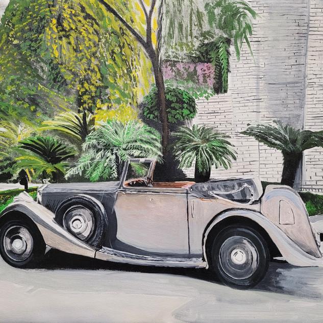 Bentley 4& 1/4 cabriolet, 1936, New Delhi, India, original sold, print £75