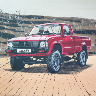 Toyotal Bakkie 1980, A3 size, original sold, print £75