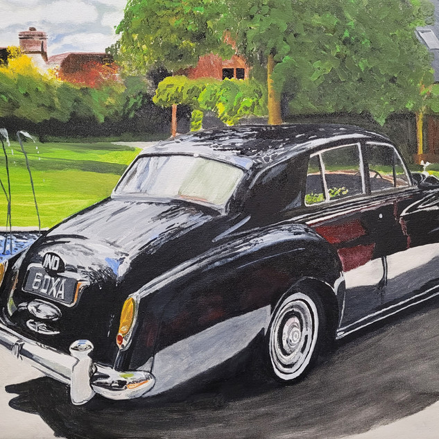 Rolls Royce Silver Cloud, 1962, oil on canvas 80x60x2cm, original sold, print £75