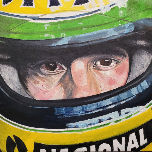 Ayrton Senna, when at McLaren, oil on canvas, 80x60x2cm, original £1,500, print £75