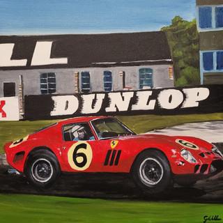 John Surtees, Ferrari 250GTO, Goodwood, 1962, oil on canvas, 60x60x2cm, original £1,000, print £75