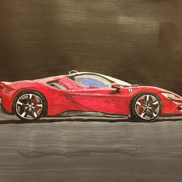 Ferrari SF90 Stradale, A3 size, original £550, print £75