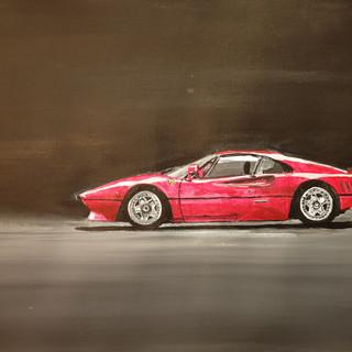 Ferrari 288GTO 1985, A3 size, original £SOLD, print £75