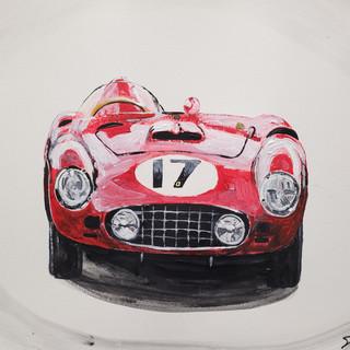 Ferrari 860 Monza, 1956, acrylic on paper, A3 size, original £250, print £75
