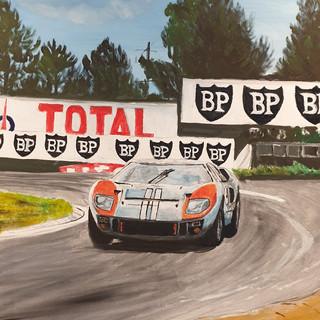 Ken Miles, Le Mans '66, oil on canvas, 91x61x4cm, original £1,500