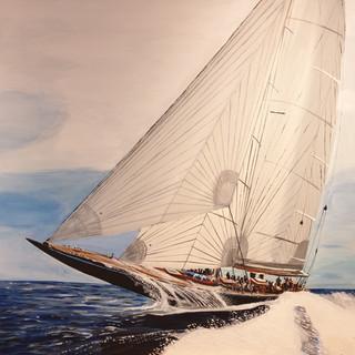 Endeavour, J Class yacht, 1 x 1 metre, commission sold