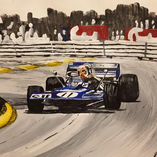 Jackie Stewart Monaco 1971 Tyrell win, A3 size, original SOLD, print £75