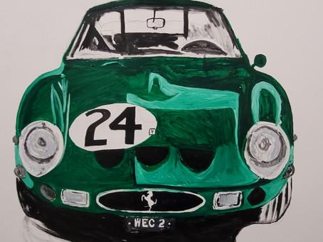 Green Ferrari 250GTO work in progress