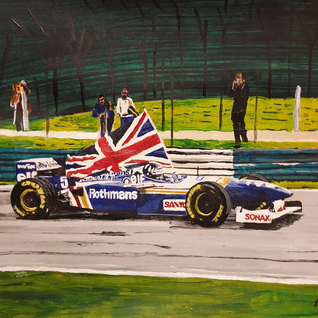 Damon Hill's victory lap, 1996, A3 size, original £550, print £75
