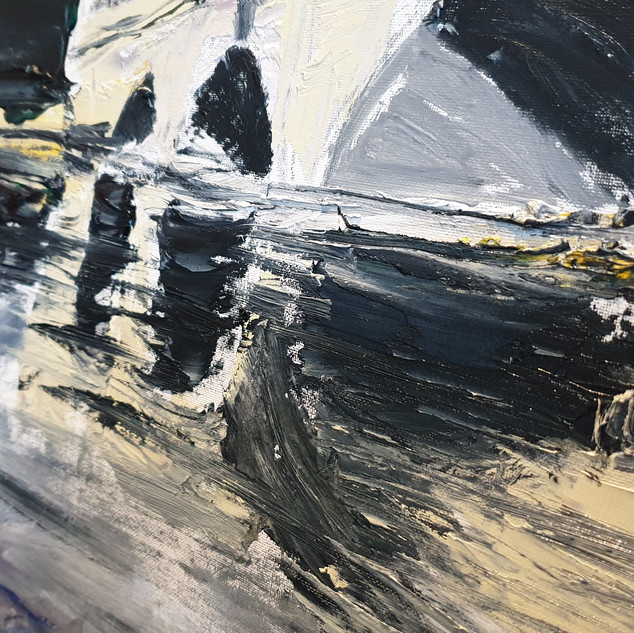 Putnry Bridge close up 2, showing the palette knife effect