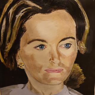 Portrait, acrylic, A3 size