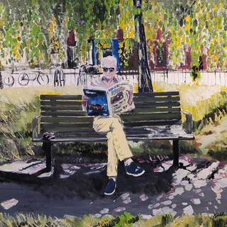 Nino, oil on canvas, 50x50x1cm