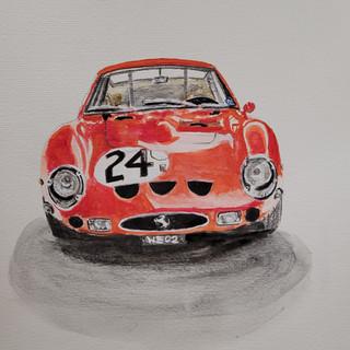 Ferrari 250GTO, 1963, watercolour, original £350, print £75