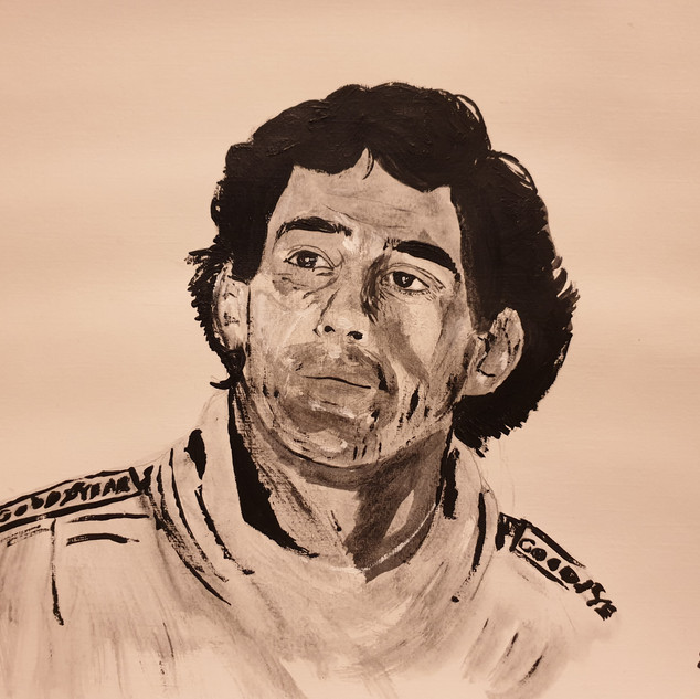 Ayrton Senna, Estoril F1, Portugal, 89, A3, original £550, print £75