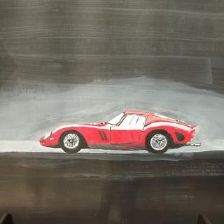 Ferrari 250GTO 1962 side, A3 size, original £SOLD, print £75