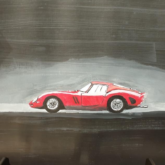 Ferrari 250GTO 1962 side, A3 size, original £550, print £75