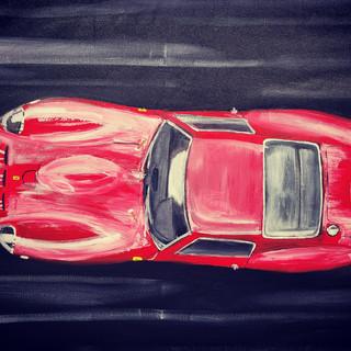Ferrari 250GTO 18962, oil on canvas, 90x70x2cm, original £1,000, print £75